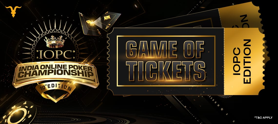 IOPC game of tickets | BLITZPOKER