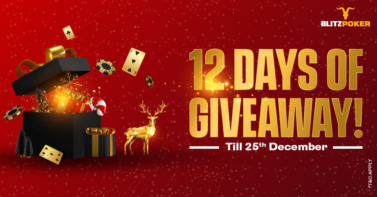 12 DAYS OF GIVEAWAY|BLITZPOKER