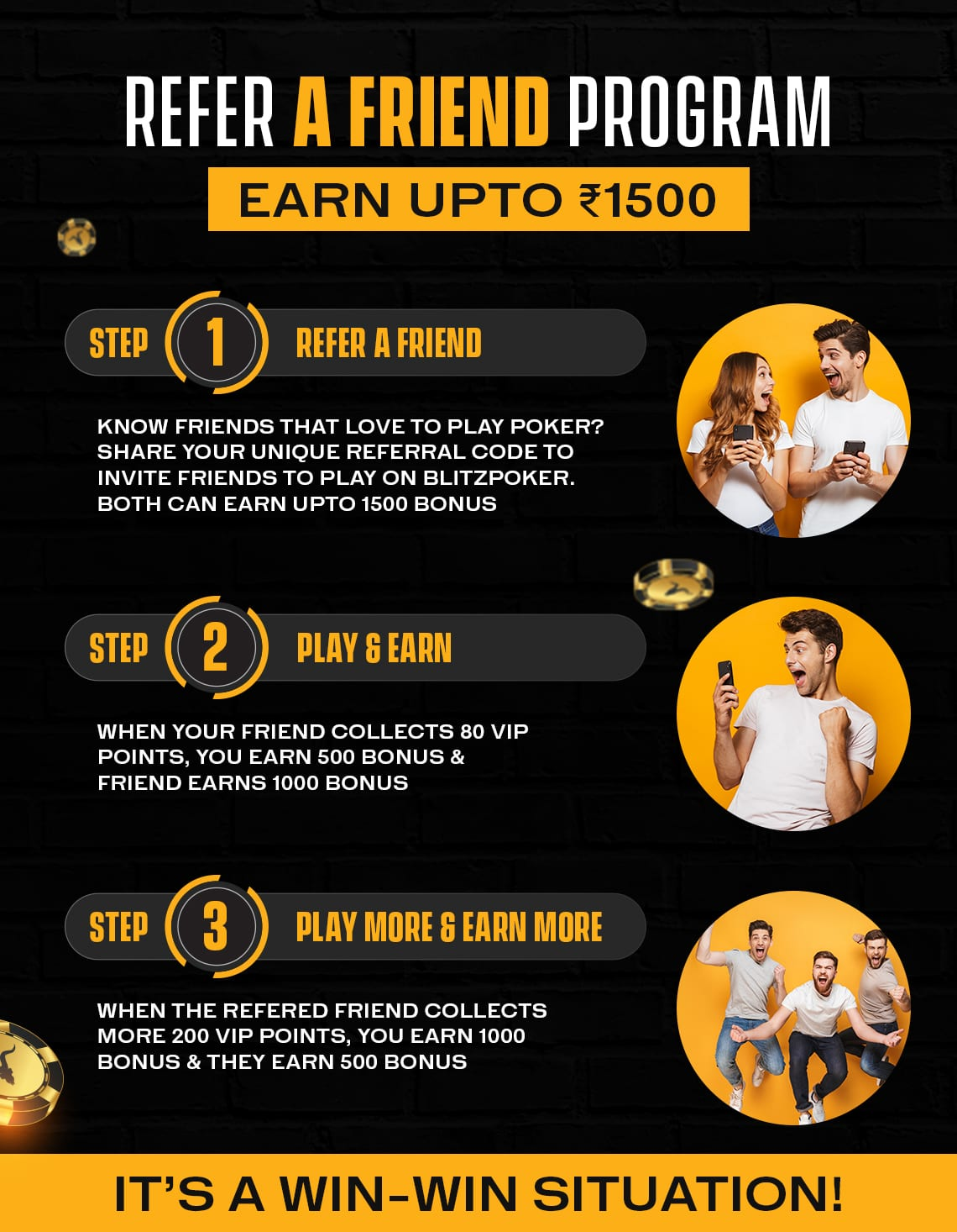 Refer A Friend Program | BLITZPOKER