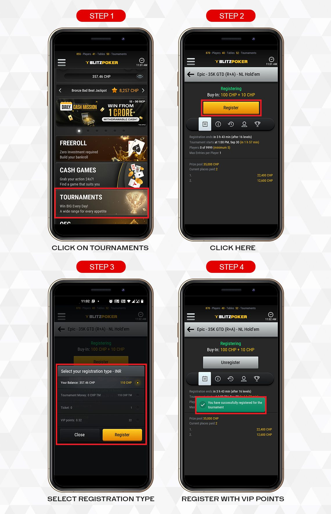 MOBILE HOW TO REDEEM | BLITZPOKER